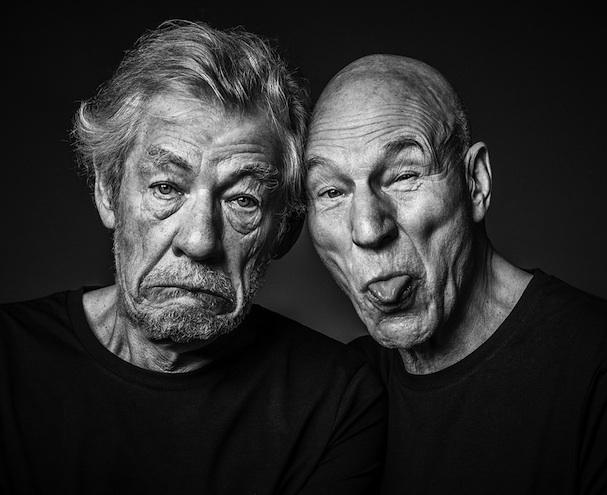 Patrick Stewart and Ian McKellen 607