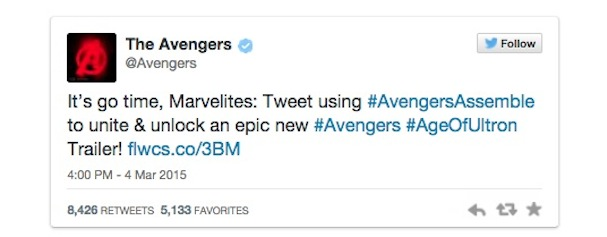 marvel avengers age of ultron tweet