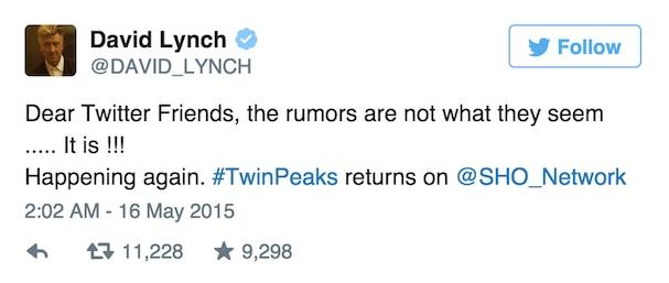 Twin Peaks 607 Twitter
