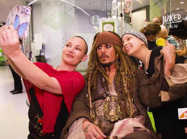 Johnny Depp as  Jack Sparrow at a Children's Hospital Australia 607