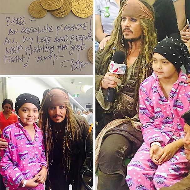 Johnny Depp as  Jack Sparrow at a Children's Hospital Australia 607 3