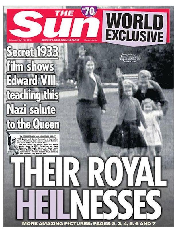 Queen Nazi Salute Sun 2015