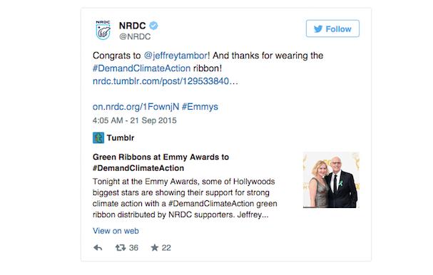 EMMY Green ribbon tweet 607