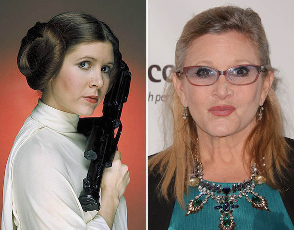 Carrie Fisher now and then 607