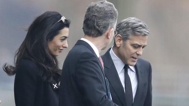 George Clooney Angela Merkel 607