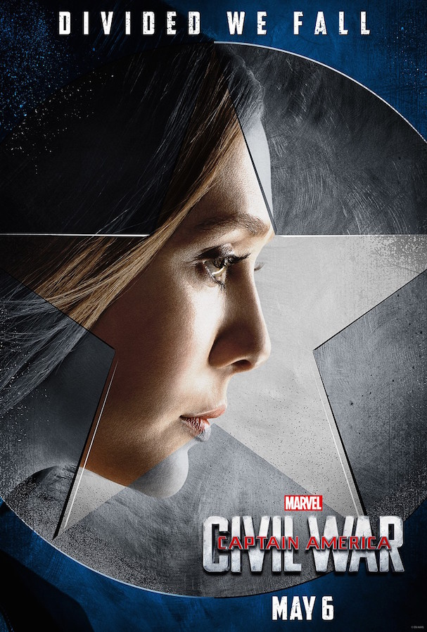 4 Captain America Civil War Character Posters 607