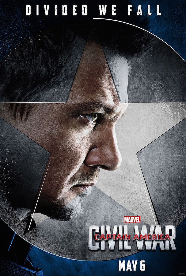 5 Captain America Civil War Character Posters 607