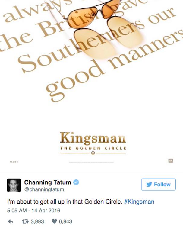 channing tatum twitter kingsman