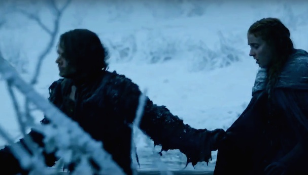 Game of Thrones Film Clip Sansa River 607