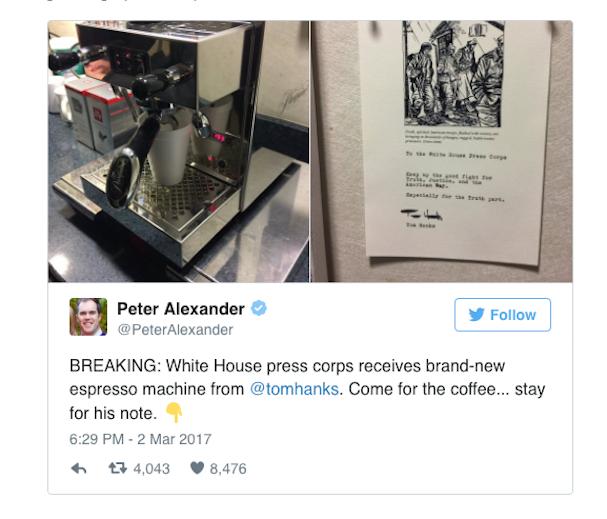 tom hanks Espresso machine 607 1