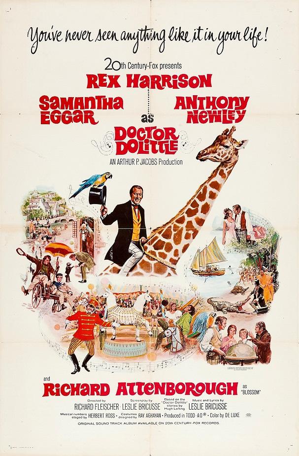Doctor Dolittle 1967 poster 607
