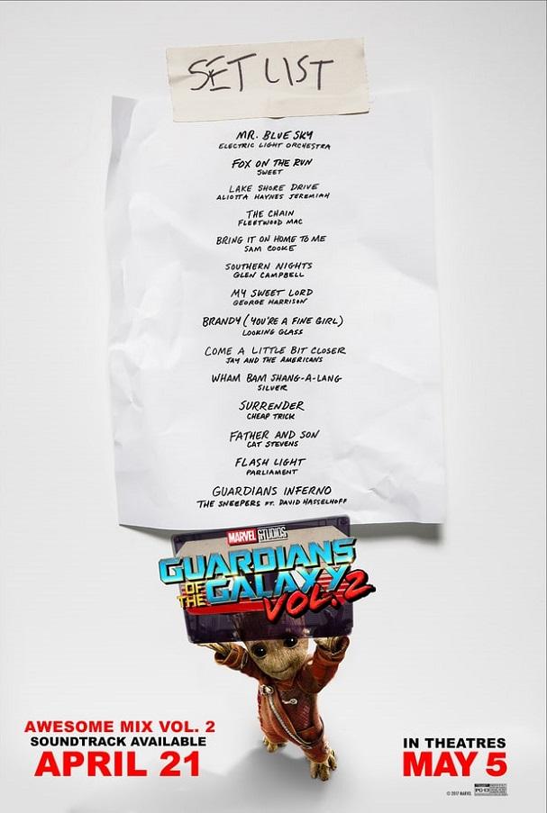 Guardians of the Galaxy vol. 2 mixtape 607
