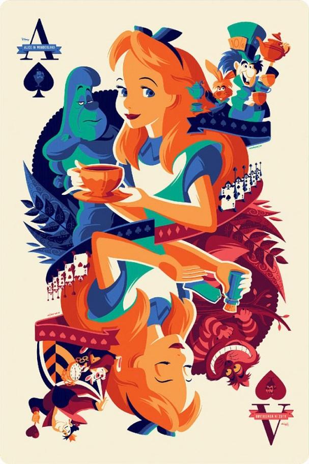 Alice in Wonderland by Tom Whalen 607