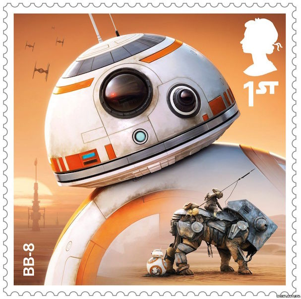STAR WARS stamps 607 1