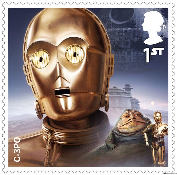 STAR WARS stamps 607 3