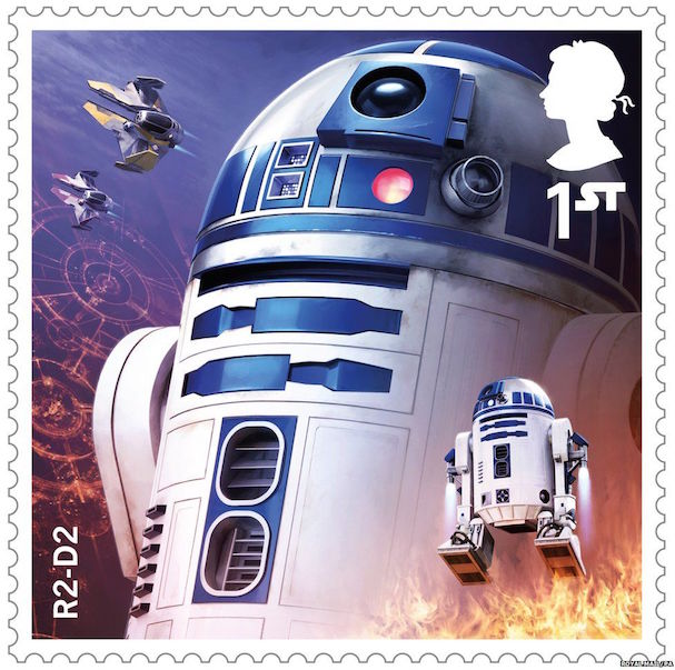 STAR WARS stamps 607 4