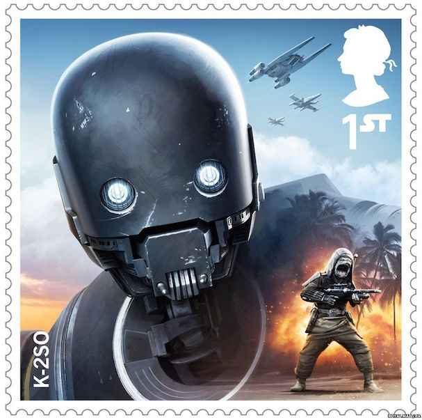 STAR WARS stamps 607 8
