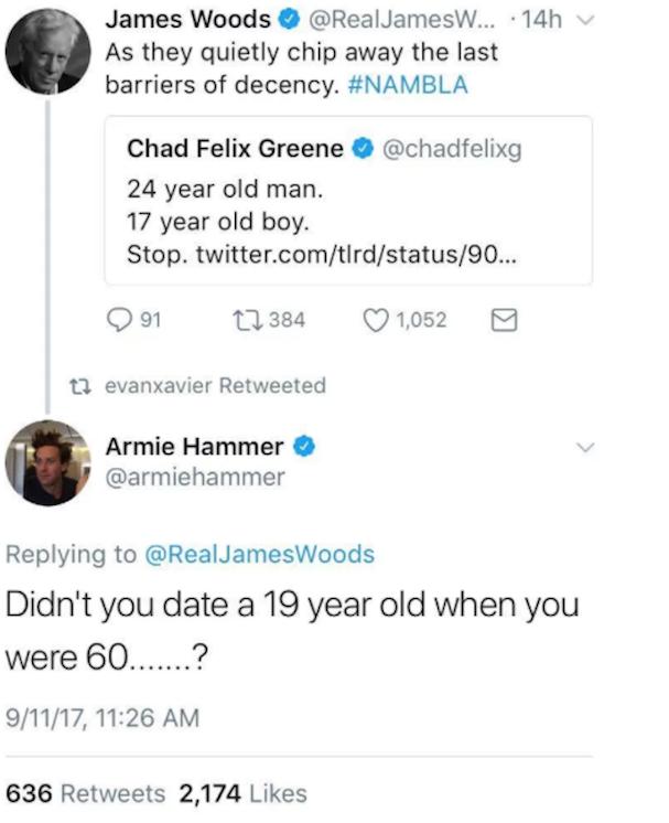 James woods tweet armie hammer 607