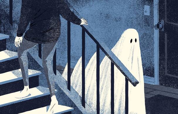 a ghost story Illustration by Byron Eggenschwiler 607