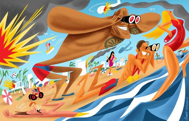 baywatch Illustration by Bendik Kaltenborn 607