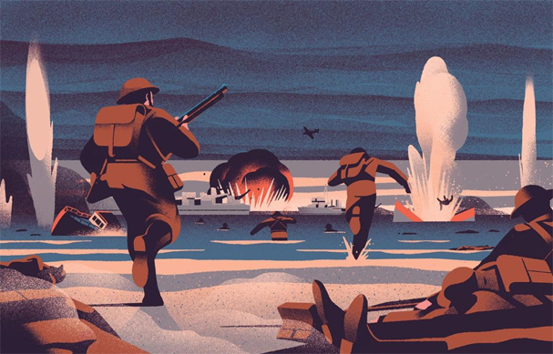dunkirk Illustration by Sebastien Plassard 607