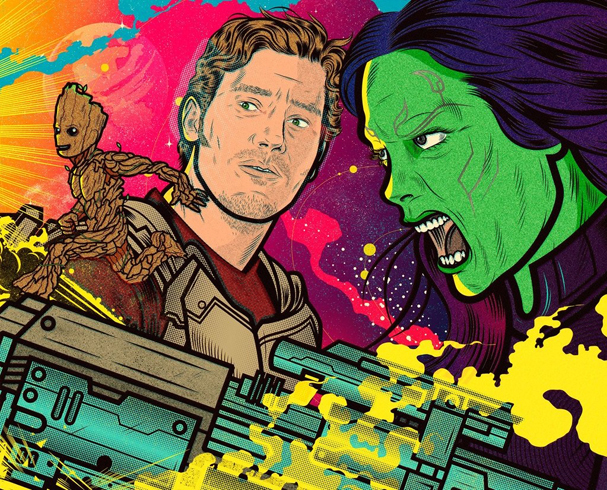guardians of the galaxy vol 2 Illustration by Diego Patiño 607