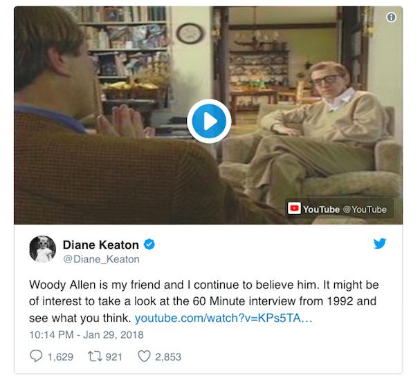 Diane Keaton tweet 607