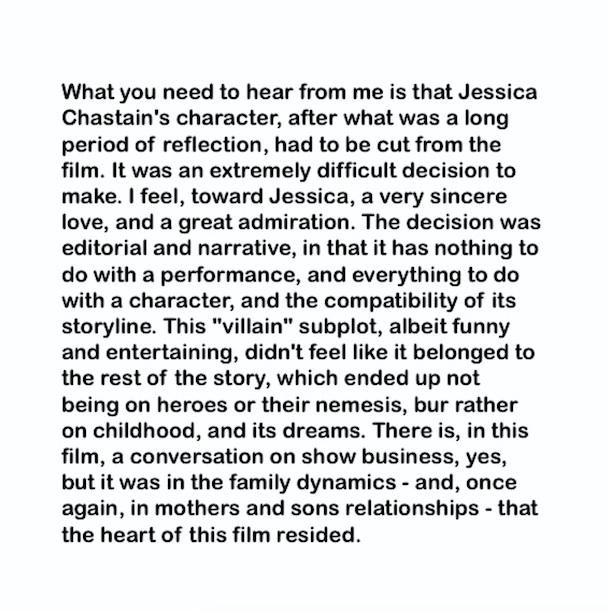 Xavier Dolan Jessica Chastain