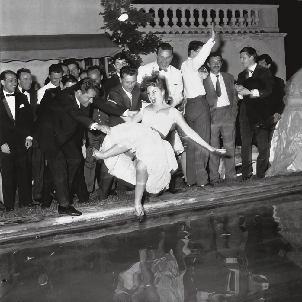 dolce vita party cannes 1960