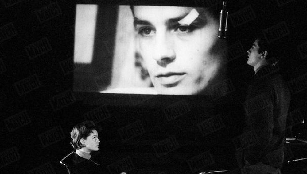 Αλέν Ντελόν, Ρόμι Σνάιντερ, Λουκίνο Βισκόντι, Παρίσι, 1961
