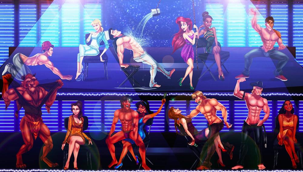 Αν οι πρίγκιπες της Disney έπαιζαν στο «Magic Mike XXL»;