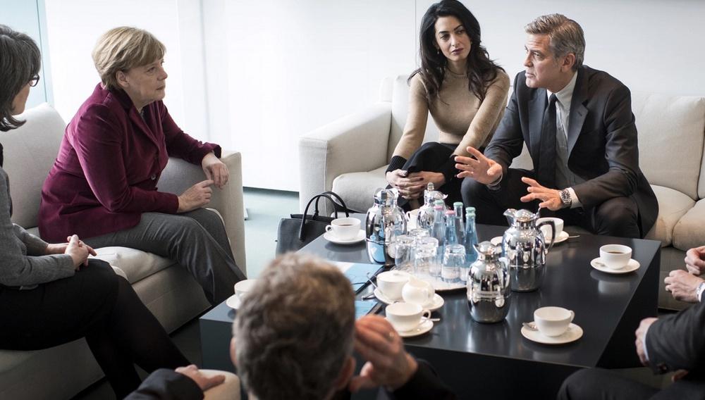 Berlinale 2016: Τζορτζ Κλούνεϊ, Αμάλ Αλαμουντίν συναντούν την Ανγκελα Μέρκελ για το προσφυγικό
