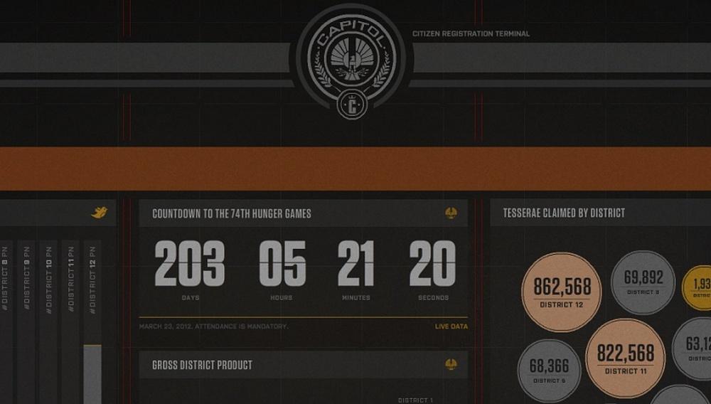 Ακόμη να μπείτε στο site του «The Hunger Games»;