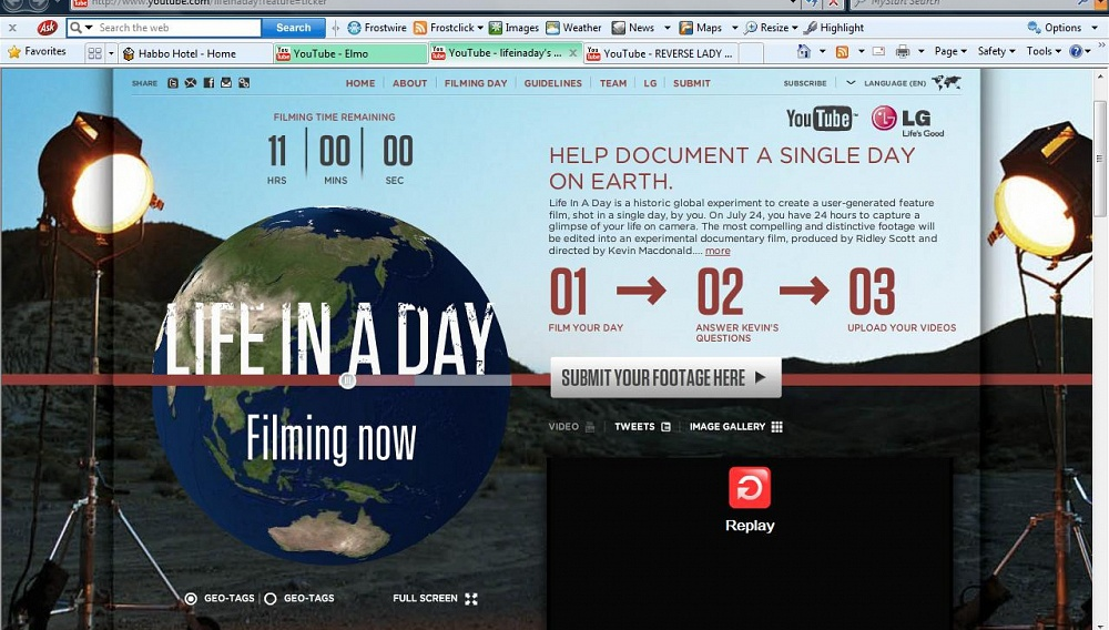 «Life in a Day»: μια ταινία με 80.000 σκηνοθέτες!