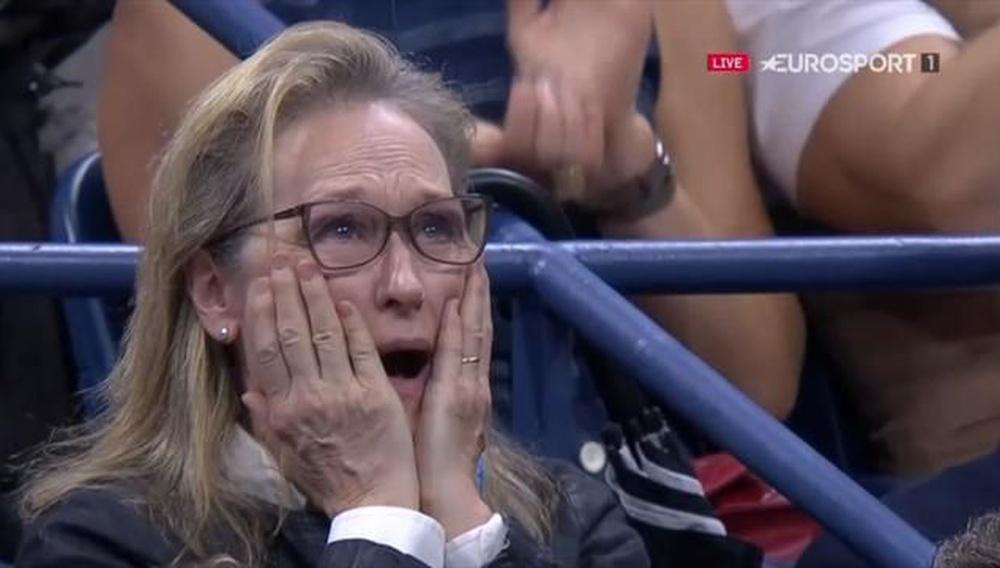 Η Μέριλ Στριπ αξίζει ένα Οσκαρ ακόμα κι όταν απλά... παρακολουθεί τένις