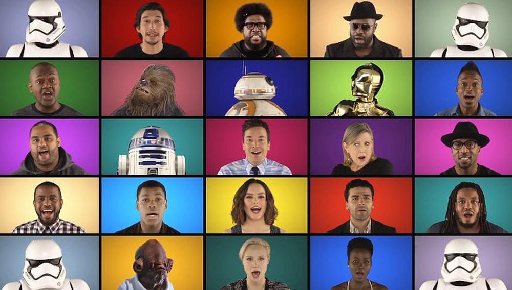 Το καστ του Star Wars & ο Τζίμι Φάλον τραγουδούν το μουσικό θέμα της ταινίας