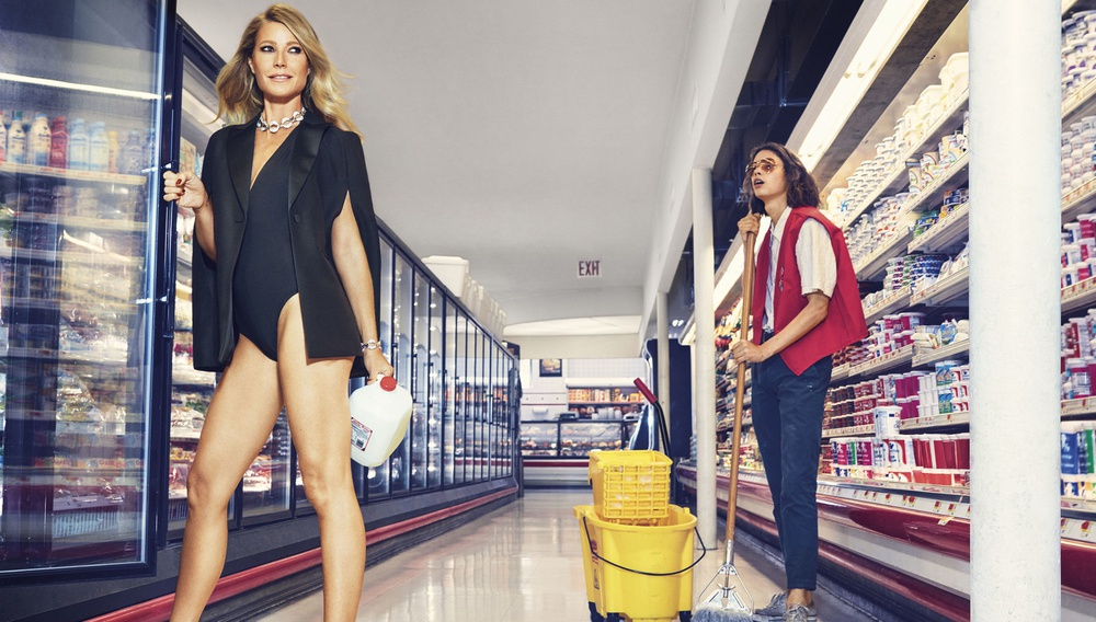 Η Γκουίνεθ Πάλτροου ποζάρει με τα εσώρουχά της σε ένα σούπερ μάρκετ