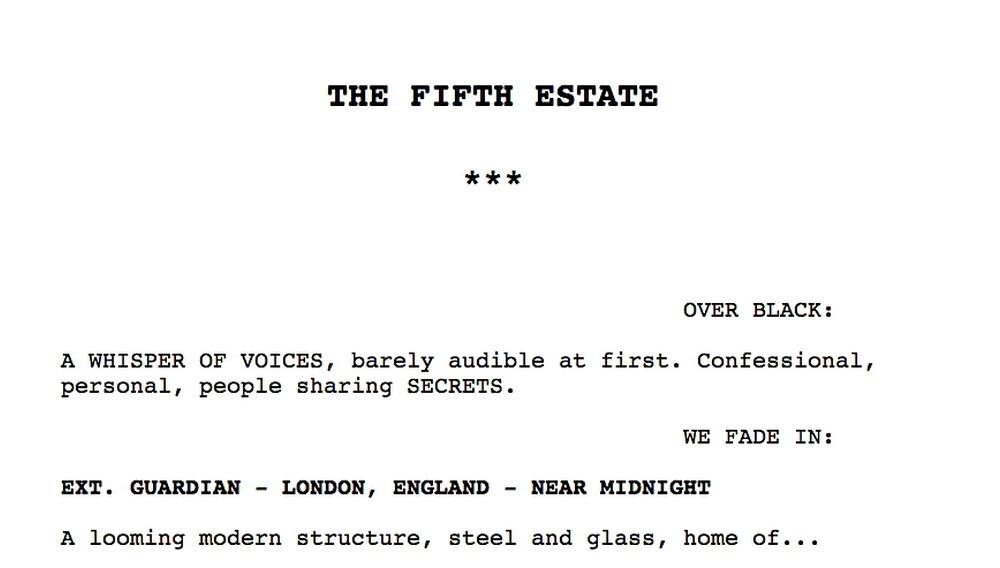 Θέλετε να διαβάσετε το σενάριο του «The Fifth Estate»; Τώρα μπορείτε, στο WikiLeaks