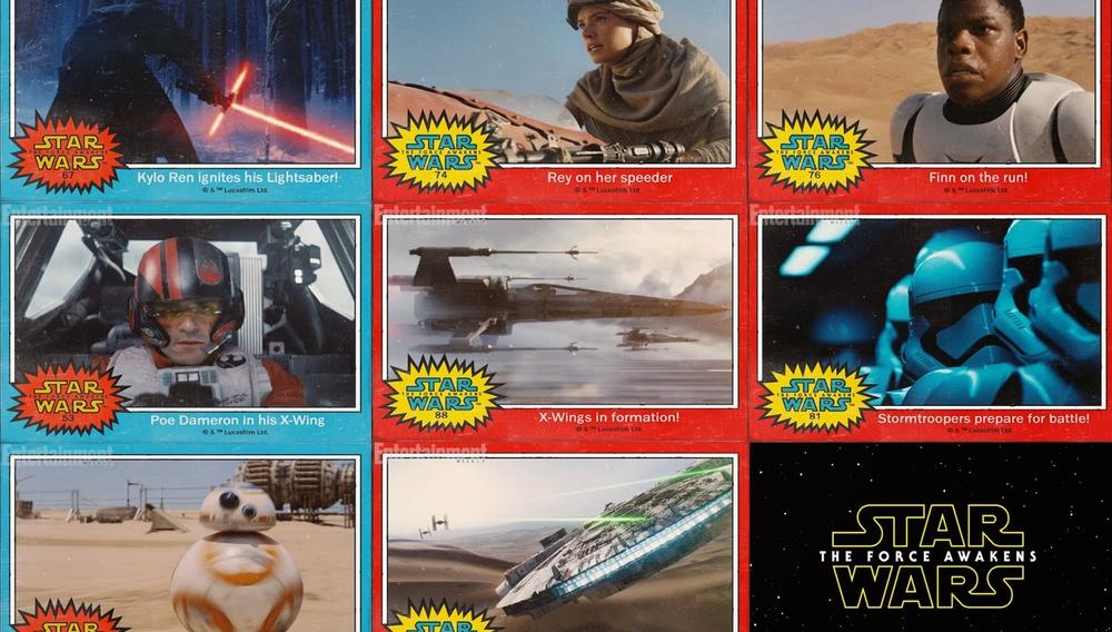 Αλλάζουμε; συλλεκτικές κάρτες αποκαλύπτουν τους νέους ήρωες του «Star Wars: The Force Awakens»