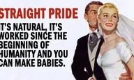 Το Straight Pride ειναι μια ιδέα που θα μπορούσε να γίνει πραγματικότητα μόνο στην εποχή του Τραμπ